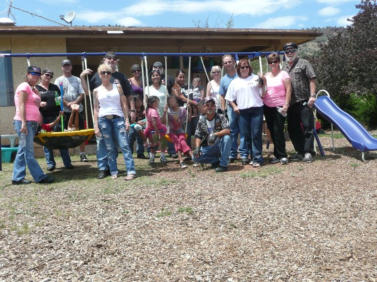 Our First swing set we built for the Shelter in 2011
